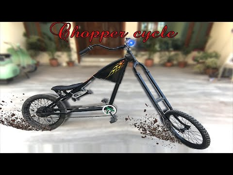 How to build Chopper Bicycle with power air horns