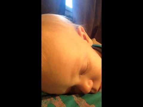 Abby falling asleep