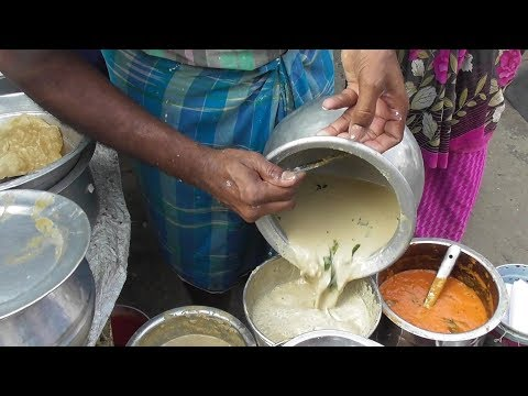 Couple Selling idly sambar chutney Special South Indian dishes