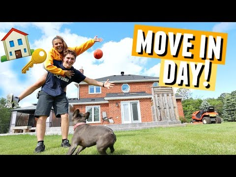 MOVE IN DAY!🏠🔑 Matt and I move into our NEW HOME!