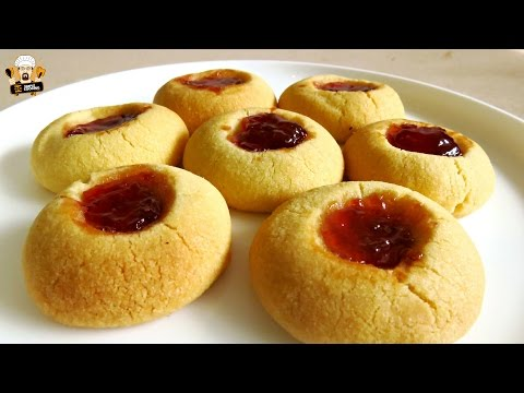 JAM FILLED BUTTER COOKIES EASY RECIPE