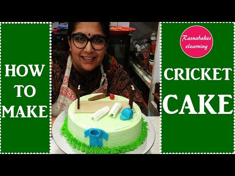 how to make cricket cake : cake decorating tutorial