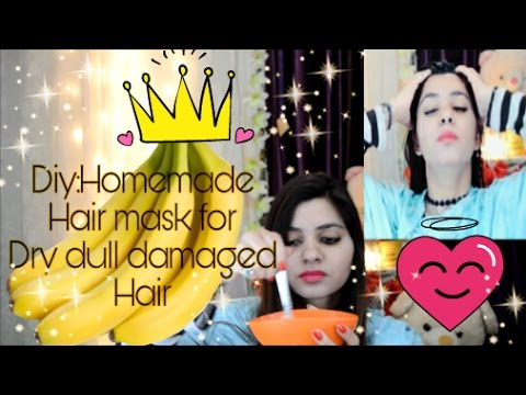 DIY HAIRMASK  How to get smooth silky hair at home/Diy hair mask for FIzzy/Rough/Damage hair/BANANA