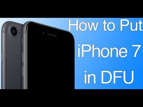 how to enter DFU mode iphone 7