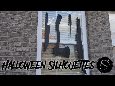 How to Make Halloween Silhouettes for Windows!