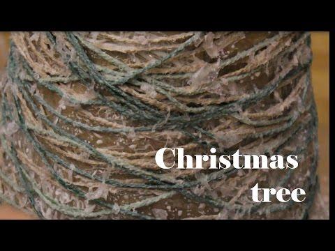 Christmas tree with twine yarn DIY- 5th day of Christmas decor