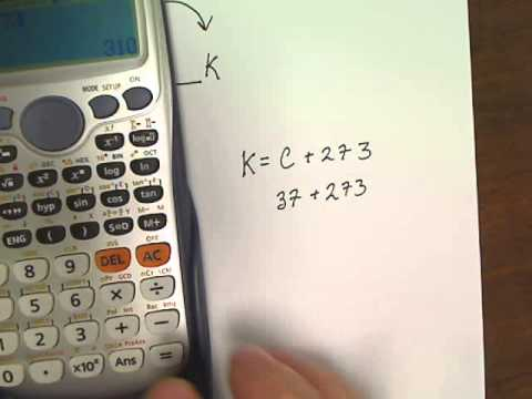 Converting Different Units of Temperature (Celsius to Kelvin)
