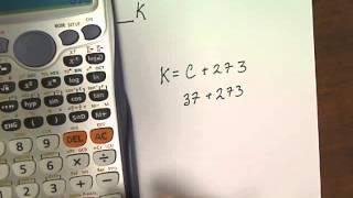 Converting Different Units Of Temperature Celsius To Kelvin