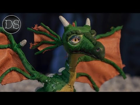MAKING A POSEABLE MIXED MEDIA DRAGON ART DOLL 🐉| St George and the Dragon Polymer Clay Sculpt