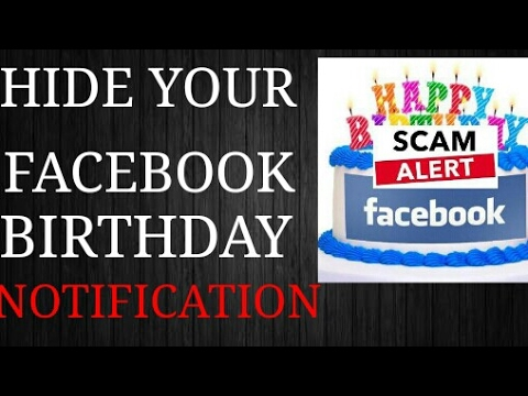 How to hide birthday on facebook timeline..