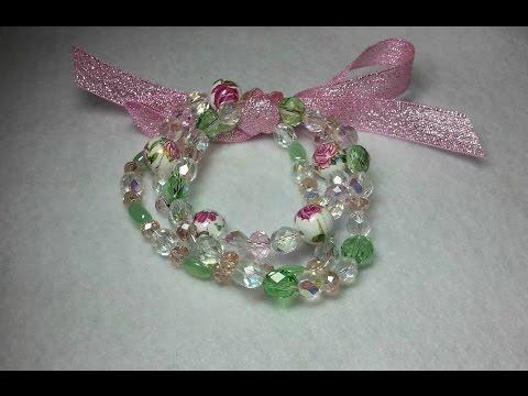 Make A Gorgeous Beaded Stretch Bracelet Set That will NOT break! Tried & True!