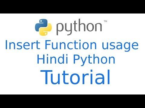 How to use insert method in python   Python Hindi Tutorial
