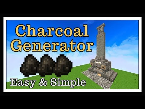 Minecraft Tutorial : Charcoal Generator / Blacksmith Style