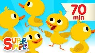 Five Little Ducks + More | Kids Songs and Nursery Rhymes | Super Simple Songs