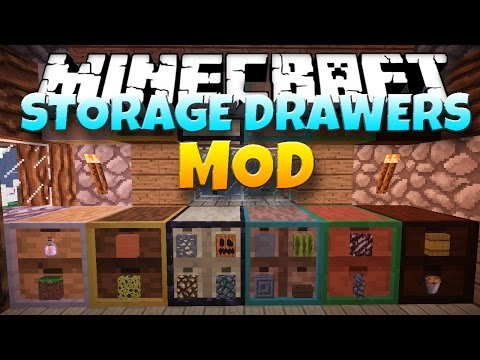 Minecraft Mod: STORAGE DRAWERS! | Drawers and Shelves [1.7.10]