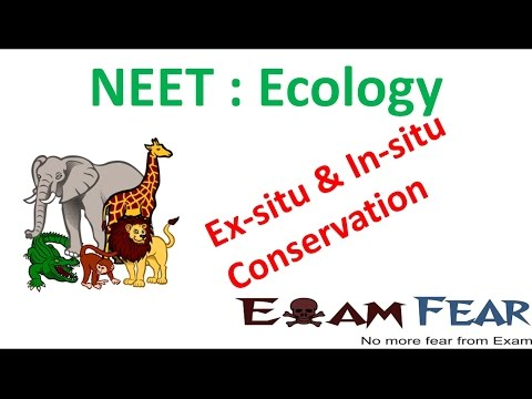 NEET Biology Ecology : Ex-situ and In-situ Conservation