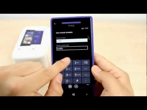 How to Add a contact on the HTC 8X