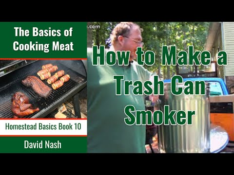 How To Make a Trash Can Cold Smoker