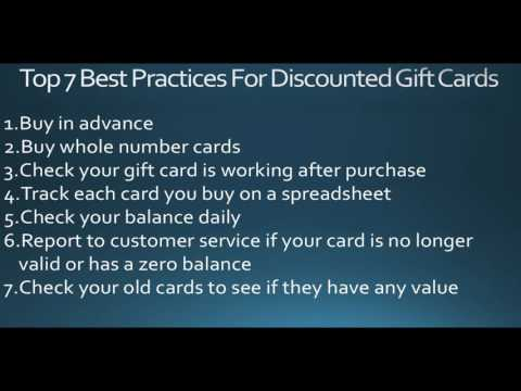 7 Best Practices For Buying & Managing Discounted Gift Cards