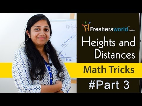 Aptitude Made Easy - Heights And Distances, Math Tricks Part - 2