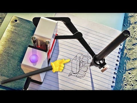 ROBOT can DRAW Cameras!! (Line-Us) - Knoptop