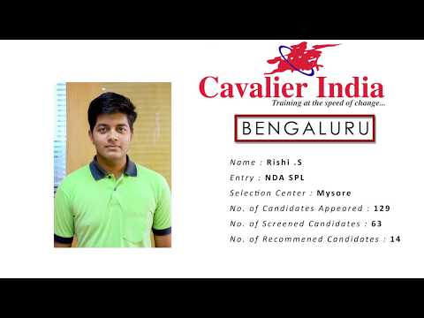 SSB Selected Candidate Rishi. S || NDA Spl  2018 || Cavalier India