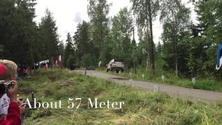 Ogier jump almost record (57m). Wrc rally Finland