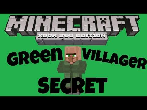 Minecraft Xbox 360 + PS3 GREEN VILAGER SECRET