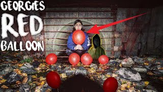 """I WENT BACK TO THE SEWER AND I FOUND GEORGIES RED BALLOON FROM """"IT"""" INSIDE THE PENNYWISE SEWER!"""