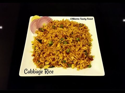 Spicy Cabbage Rice - Spicy Masala Cabbage Rice Recipe Indian Style - Quick And Easy Recipes