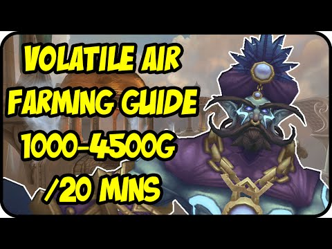 WoW Gold Farming Patch 6.2.4: Volatile Air Gold Making - Vortex Pinnacle Farming Guide - WoD Gold