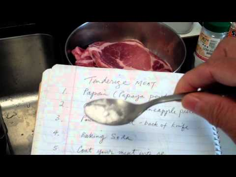 How to tenderize meat for stir frying and other ways of cooking