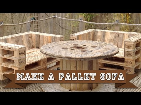 Make a Simple DIY Pallet Sofa Chair from Recycled Wood using this Easy How-to Video and Basic Tools