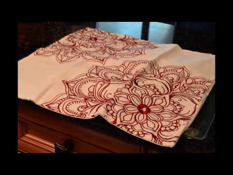 Euphoria/CaliTime: Cotton Throw Pillow/Cushion Covers with a Dahlia Flower #Review #CaliTime