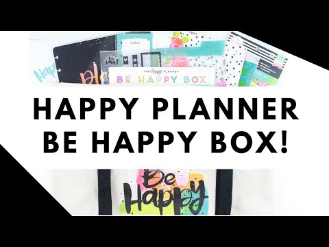 NEW Happy Planner BE HAPPY BOX!   At Home With Quita