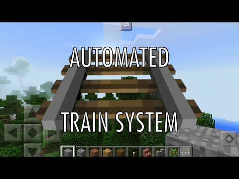 Automated Train System || MCPE Tutorial