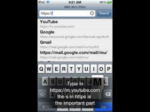 Get on YouTube at school from iPhone/iPod Touch