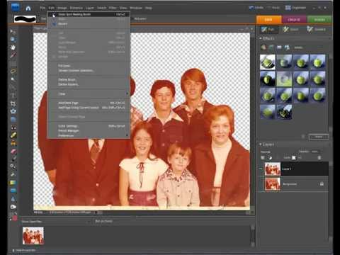Photoshop Elements Scan and Repair Old Photos