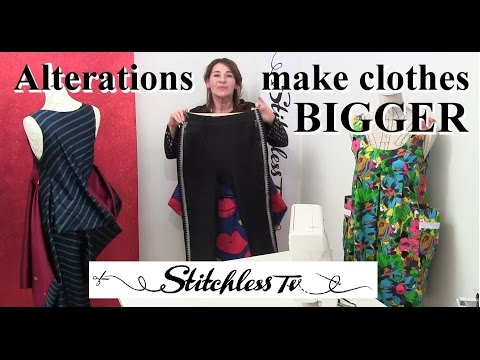 How to make clothes bigger