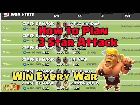 How to Plan a 3 star attack | Win Every Clan War | Clash of Clans
