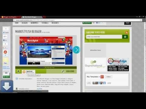 How to change Blogger template 2013(Tutorial)