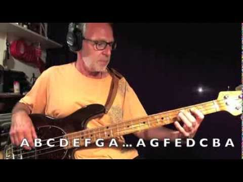 Learn All Notes on Bass Guitar with George Urbaszek - Video 1
