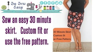30 Minute Skirt - Sew An Easy Stretch Skirt In Minutes