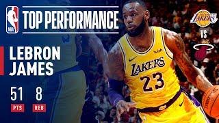 7f4c1944c93c LeBron James Drops A Season High 51 POINTS In Miami