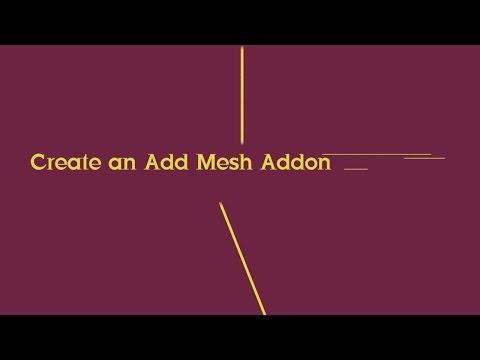 Create an Add Mesh Addon in Blender (Python tutorial)