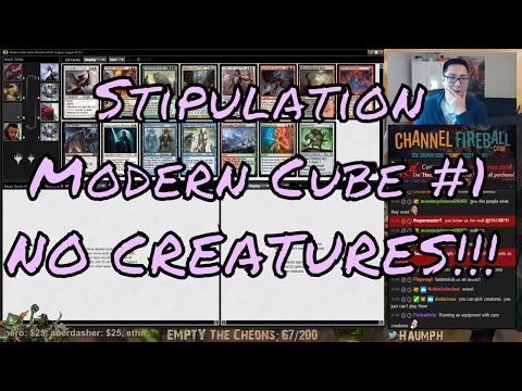 Stipulation Modern Cube - NO CREATURES!