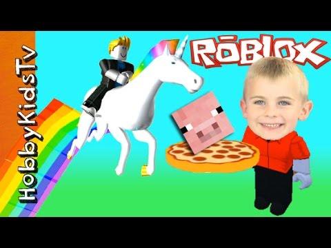 HobbyFrog Plays Roblox! Minecraft Video Gaming with HobbyKidsTV