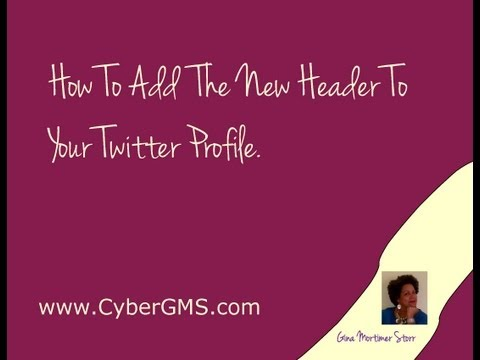 How To Add The New Twitter Header On Your Twitter Profile