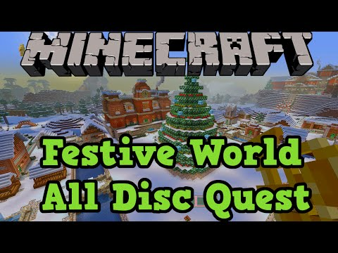Minecraft Xbox + PS3: Festive Mashup Pack All Music Discs Quest!