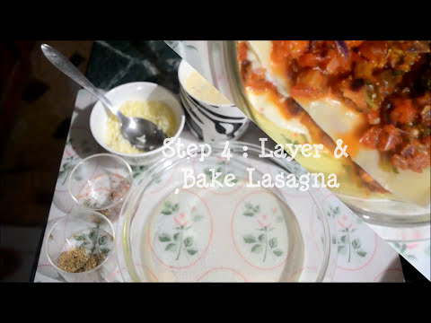 How to make Vegetable Lasagna at Home - Easy Step by Step Recipe